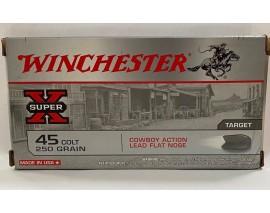 20 CARTOUCHES WINCHESTER LEAD COWBOY 250GR CALIBRE 45LC