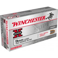 50 CARTOUCHES WINCHESTER 9X19 124GRS
