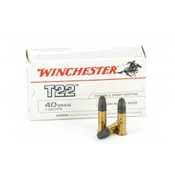 50 CARTOUCHES WINCHESTER  T22 40GR CALIBRE 22LR